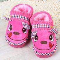 儿童包跟棉拖鞋卡通加厚防滑保暖室内厚底棉拖儿童冬天棉鞋