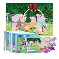 小猪佩奇100片拼图幼儿童早教益智力卡通玩具佩琪拼图3-5-7平面纸质小宝宝男女孩