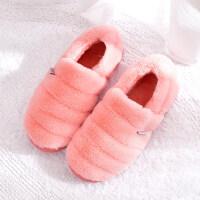 新款女士保暖月子鞋男士大码拖鞋 女全包跟家用可爱棉拖鞋居家鞋子