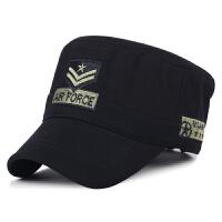 帽子男士秋冬季保暖韩版平顶帽户外遮阳帽鸭舌帽全棉军帽