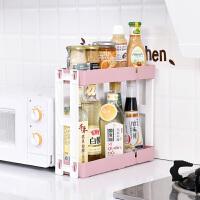 居家家双层长方形调料架置物架厨房用品多功能落地架子收纳架