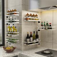 免打孔厨房置物架壁挂调料架304不锈钢可旋转多层角架