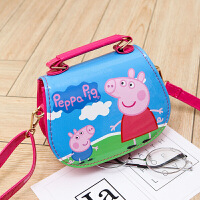 儿童包包斜挎包 时尚公主卡通小猪佩奇女男孩女童3-8岁宝宝手提包