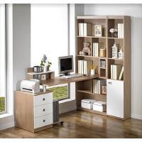 【满减优惠】包邮电脑桌台式家用简约电脑桌转角书柜书桌书架组合办公桌写字台