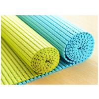 普润 可裁剪加厚防水发泡PVC防滑地垫橱柜垫 客厅卧室浴室进门垫子(44*68)颜色*