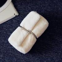 女包单肩包毛毛包回形针秋冬新款手抓包斜跨包韩版时尚链条包 米白色