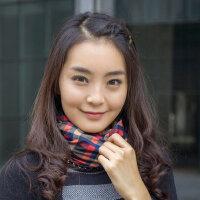 两用可爱保暖头巾冬季学生秋冬韩版围脖女冬针织护脖套帽子