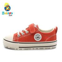 芭芭鸭童鞋儿童帆布鞋男童板鞋女童球鞋2020春季新款韩版潮布鞋子