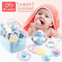 婴儿新生儿玩具高温水煮牙胶摇铃0-3-6-12个月宝宝益智玩具0-1岁