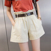 短裤 女士高腰宽松花苞阔腿裤2020夏季新款韩版时尚女式休闲工装短裤女装热裤