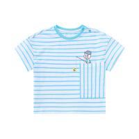 【2件3折到手价:43】小猪班纳童装男宝宝短袖t恤2020夏季新款儿童条纹圆领休闲打底衫