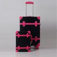 韩版皮箱拉杆箱万向轮学生行李箱女复古旅行箱密码箱个性子母箱包