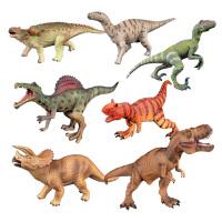 霸王龙三角龙棘龙暴龙迅猛龙美甲龙模型儿童礼物仿真软胶恐龙玩具模型