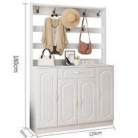 多功能简约现代欧式鞋柜衣架一体家用门口进门储物鞋柜挂衣架鞋架 组装