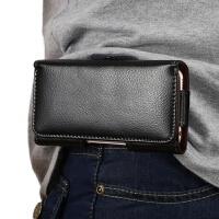 真牛皮手机挂腰包皮套穿皮带4.7寸5.2寸5.5寸6寸通用薄壳男老年人 4.7寸 至 4.8寸手机通用