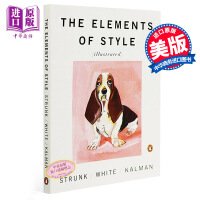 【中商原版】英文原版 The Elements of Style 风格的要素【插图版】E.B 怀特 英语写作指导书