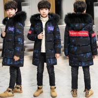 儿童冬装中大童迷彩羽绒12男孩加厚棉袄15岁男童棉衣外套