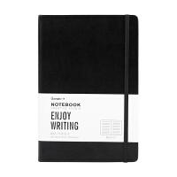 广博(GuangBo)120张A5记事本/办公笔记本子绑带设计 黑色GBP20001当当自营