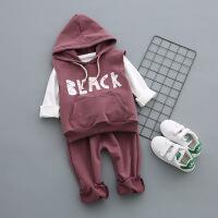 春款男童女童洋气套装三件套宝宝时尚春装小童运动服2婴儿1-3岁潮