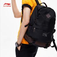 李宁双肩包男包2019新款运动时尚系列背包书包学生运动包ABSP019