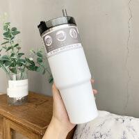 �n版��性潮流12�咖啡杯�r尚��s不�P�保�乇�男女�W生情�H水杯子 600ml/890ml