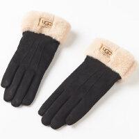 保暖 可爱秋天触屏 女士手套冬季保暖麂皮绒开车手套女冬