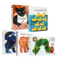 Eric Carle卡爷爷经典早教绘本5本纸板书套装 From Head to Toe 10 Little Rubber Ducks 幼儿英文原版趣味绘本图画亲子读物 送音频