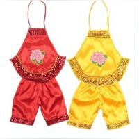 六一儿童演出服装亮片红黄女童男童幼儿园肚兜表演服福娃肚兜套装