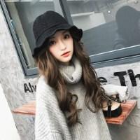 时尚保暖针织盆帽子 韩版百搭毛线帽子 可爱潮复古英伦渔夫帽女士