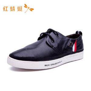 红蜻蜓2018年秋季新款皮鞋舒适休闲单鞋真皮男士皮鞋
