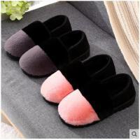 棉拖鞋女包跟月子鞋软底居家地板防滑厚底防水保暖鞋豆豆款毛毛鞋