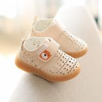 夏季款幼儿童镂空小皮鞋男童透气洞洞鞋软底宝宝鞋女童学步凉单鞋