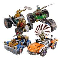 忍者神龟机车动漫周边拼装手工车模型3D立体拼图拼插玩具