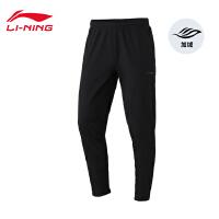 李宁运动裤男士新款训练长裤冬季男装平口梭织运动裤AYKN451