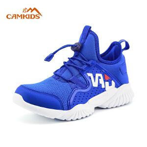 camkids童鞋儿童男童鞋子2018新款中大童春秋白色韩版女童运动鞋