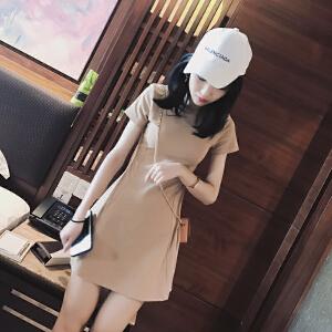 连衣裙女夏2018新款女装韩版修身显瘦内搭打底pphome裙子文艺