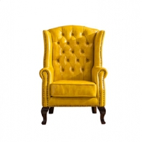 老虎椅美式真皮单人沙发老板椅卧室书房休闲沙发椅老虎凳脚踏欧式