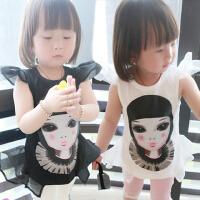 *儿童装女童背心2018夏装新韩版女孩休闲T恤上衣