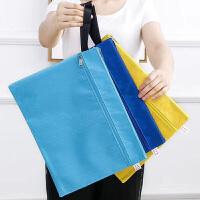 贝多美(BeiDuoMei) BDM-018炫彩12色 A4防水足球纹双层手提文件袋 可定制