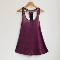 工字运动瑜伽背心女跑步健身吊带无袖上衣宽松镂空中长款速干罩衫