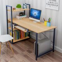 钢木台式电脑桌宜家家居家用简约现代学生卧室书架旗舰