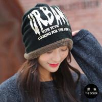 帽子女韩版潮包头帽男加厚保暖套头帽毛线帽针织帽