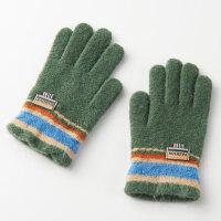 冬天保暖写字小学生手套男冬季毛线款6-9岁帅气儿童手套男