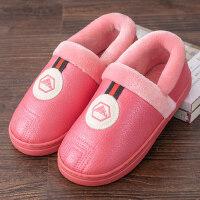 男棉拖鞋包跟男士可外穿室内家用保暖防滑平底防水休闲