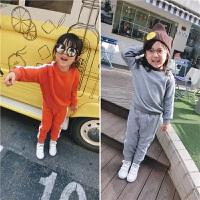 儿童不倒绒运动套装女童小童休闲两件套婴幼儿宝宝洋气套装