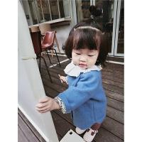 女童外套17秋冬宝宝上衣儿童风衣婴儿中长款呢子大衣0-3岁