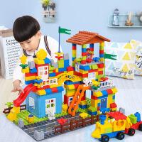 【限时抢】儿童益智积木兼容乐高城市大颗粒拼装男孩子女孩儿童玩具 早教玩具