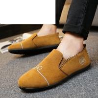 老北京布鞋男鞋 春夏款社会青年鞋 豆豆鞋风绣花鞋平底驾车鞋夏季