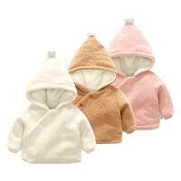 宝宝衣服春装0岁3月儿童连帽上衣新生儿冬季外套婴儿外出服
