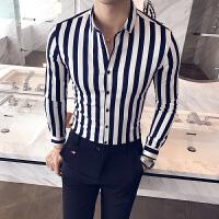 哲曼琪 长袖西装衬衫男修身韩版百搭休闲衬衣商务青年发型师寸衣